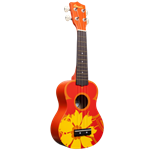 Amahi   DDUK5  Orange Flower Ukulele