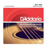 Daddario   EJ17  Phosphor Bronze Acoustic Medium