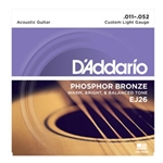 Daddario   EJ26  Custom Light .011-.052 Phosphor Bronze Guitar Strings