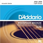 Daddario   EJ16-3D  3 Pack Light Acoustic Strings