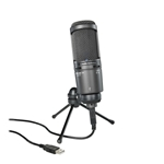 Audiotechnica   AT2020USB+  Windows and Mac compatible side-address studio condenser