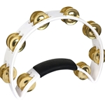Rhythmtech   RT1021  White Tabourine with Brass Jingles