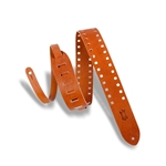 Levy   M12SPOV-TAN  Square Punch Out Premier Guitar Strap Tan