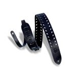 Levy   M12TTV-BLK  Tiger Tooth Punch Out Premier Guitar Strap Black