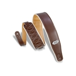 Levy   M26VCP-BRN-MUS  Reversible Vinyl Guitar Strap Brown