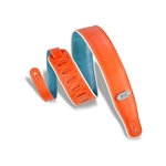 Levy   M26VCP-ORG-TEL  Reversible Vinyl Guitar Strap Orange-Teal