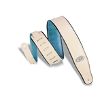 Levy   M26VP-CRM-TEL  Reversible Vinyl Guitar Strap Cream Teal