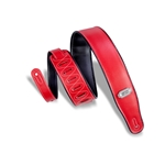 Levy   M26VP-RED-BLK  Reversible Vinyl Guitar Strap Red-Black