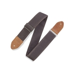 Levy   M7WC-BRN  Traveler' Waxed Canvas Guitar Strap