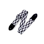 Levy   MPF2-001  Offset Arrow guitar strap - blk/wht