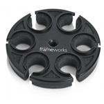 Frameworks   GFW-MIC-6TRAY  Tray to Hold 6 Mics on Top of a Mic Stand