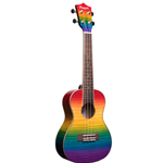 Amahi   PGUK555C-EQ  Rainbow Flamed Maple Ukulele w/ EQ