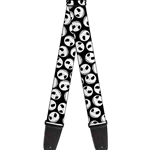 Buckle-Down   GS-WDY036  NIGHTMARE BEFORE CHRISTMAS JACK EXPRESSIONS SCATTERED BLACK WHITE