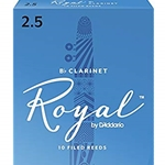 Rico Royal   10RRC25  Royal Clarinet Reeds #2.5 10 box