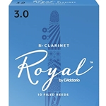 Rico Royal   10RRC3  Royal Clarinet Reeds #3 10 box