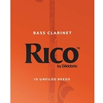 10RBC3  Rico Bass Clarinet #3 10 box