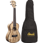 Amahi   SNAILSPAUKC  Spalted Maple Concert Uke with Bag