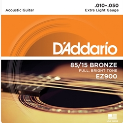 Daddario   EJ15  Extra Light Acoustic Strings