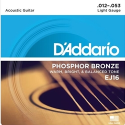Daddario   EJ16  Phosphor Bronze Lite Strings