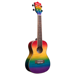 Amahi   PGUK555C  Rainbow Flamed Maple Concert Ukulele